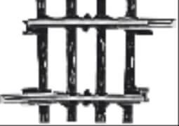 Märklin 2235 MÄRKLIN 2235 H0-Gleis geb.r424,6 mm,3 Gr.45'