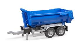 Bruder 03923 LKW Half Pipe-Anhänger, ab 3 Jahren, Maße: 50,5 x 18,5 x 21,1 cm, Plastik & Kunststoff