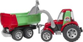 Bruder 20116 ROADMAX Traktor, Frontlader, Kippanhänger