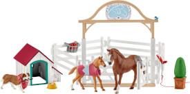 Schleich Horse Club 42458 Hannahs Gastpferde mit Hündin Ruby