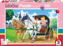 Schmidt Spiele Kutschfahrt, 150 Teile, Kinderpuzzle Bibi