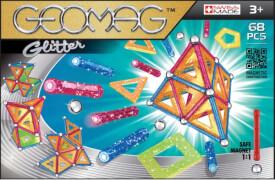 Geomag Glitter 68 - Magnet-Konstruktions-Set, 68-teilig, Kunststoff/Metall
