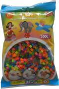 HAMA Bügelperlen Midi - Transparent Neon Mix 3000 Perlen