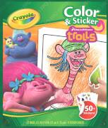 Crayola Trolls Color & Stickerboo