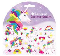 Trendhaus 944146 - Einhorn Sticker, Maße der Stickerkarte: 15x15 cm, ab 3 Jahren