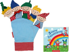 5 kleine Zappelmänner (Buch und Handschuh)