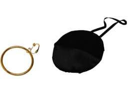 Piratenohrring u. Augenklappe, Kostüm Zubehör