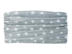 Multifunktionstuch Sterne grau