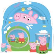 p:os 30702 Peppa Pig 3-teilig Melaminset