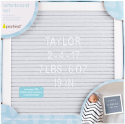 Letterboard Buchstabentafel Set grau